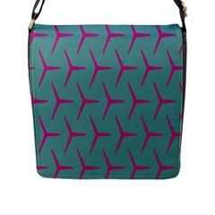 Pattern Background Structure Pink Flap Messenger Bag (L)
