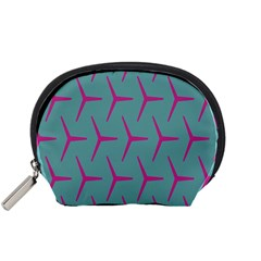 Pattern Background Structure Pink Accessory Pouches (Small)