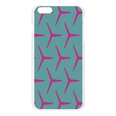 Pattern Background Structure Pink Apple Seamless iPhone 6 Plus/6S Plus Case (Transparent)