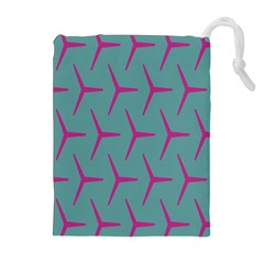 Pattern Background Structure Pink Drawstring Pouches (Extra Large)
