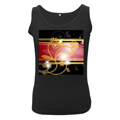 Pattern Vectors Illustration Women s Black Tank Top