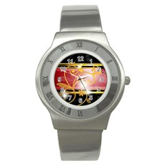 Pattern Vectors Illustration Stainless Steel Watch
