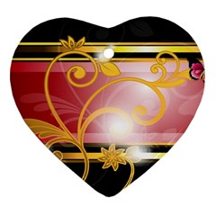 Pattern Vectors Illustration Heart Ornament (Two Sides)
