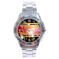 Pattern Vectors Illustration Stainless Steel Analogue Watch