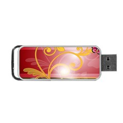 Pattern Vectors Illustration Portable USB Flash (One Side)
