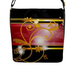 Pattern Vectors Illustration Flap Messenger Bag (L)