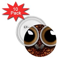 Owl Coffee Art 1.75  Buttons (10 pack)
