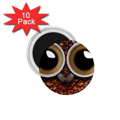 Owl Coffee Art 1.75  Magnets (10 pack)