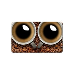 Owl Coffee Art Magnet (name Card)