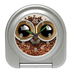 Owl Coffee Art Travel Alarm Clocks