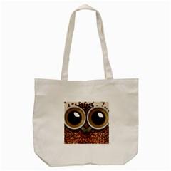 Owl Coffee Art Tote Bag (cream)