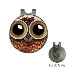 Owl Coffee Art Hat Clips with Golf Markers