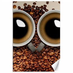 Owl Coffee Art Canvas 24  x 36