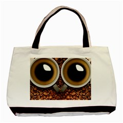 Owl Coffee Art Basic Tote Bag (Two Sides)