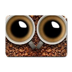 Owl Coffee Art Small Doormat