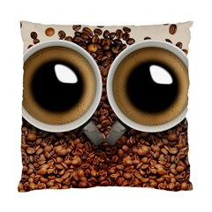 Owl Coffee Art Standard Cushion Case (Two Sides)