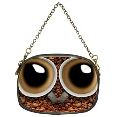 Owl Coffee Art Chain Purses (Two Sides)