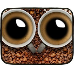 Owl Coffee Art Fleece Blanket (Mini)