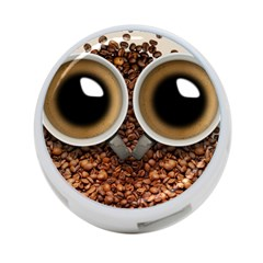 Owl Coffee Art 4-Port USB Hub (One Side)