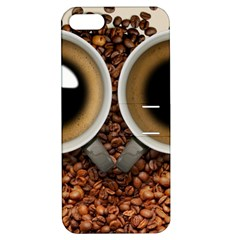 Owl Coffee Art Apple iPhone 5 Hardshell Case with Stand