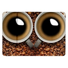 Owl Coffee Art Samsung Galaxy Tab 8.9  P7300 Flip Case