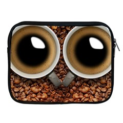 Owl Coffee Art Apple Ipad 2/3/4 Zipper Cases