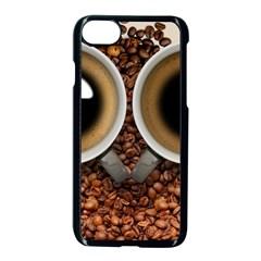 Owl Coffee Art Apple Iphone 7 Seamless Case (black)