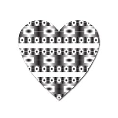Pattern Background Texture Black Heart Magnet