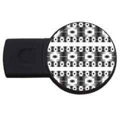 Pattern Background Texture Black USB Flash Drive Round (1 GB)