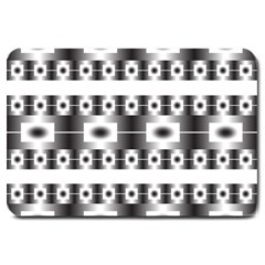 Pattern Background Texture Black Large Doormat