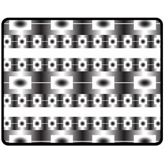 Pattern Background Texture Black Fleece Blanket (Medium)