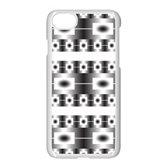 Pattern Background Texture Black Apple Iphone 7 Seamless Case (white)