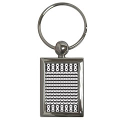 Pattern Background Texture Black Key Chains (Rectangle)