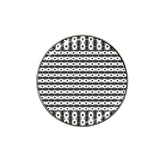 Pattern Background Texture Black Hat Clip Ball Marker (4 pack)