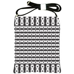 Pattern Background Texture Black Shoulder Sling Bags