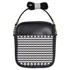 Pattern Background Texture Black Girls Sling Bags