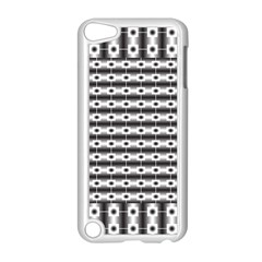 Pattern Background Texture Black Apple iPod Touch 5 Case (White)
