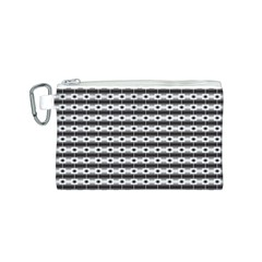 Pattern Background Texture Black Canvas Cosmetic Bag (S)