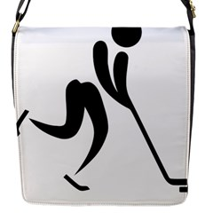 Ice Hockey Pictogram Flap Messenger Bag (s)
