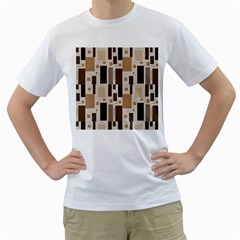 Pattern Wallpaper Patterns Abstract Men s T-Shirt (White) (Two Sided)