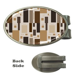 Pattern Wallpaper Patterns Abstract Money Clips (Oval)