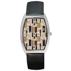 Pattern Wallpaper Patterns Abstract Barrel Style Metal Watch