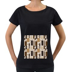 Pattern Wallpaper Patterns Abstract Women s Loose-Fit T-Shirt (Black)