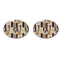 Pattern Wallpaper Patterns Abstract Cufflinks (Oval)