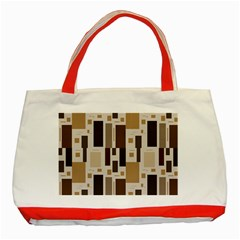 Pattern Wallpaper Patterns Abstract Classic Tote Bag (Red)