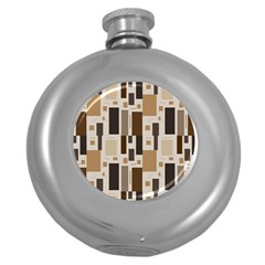 Pattern Wallpaper Patterns Abstract Round Hip Flask (5 oz)