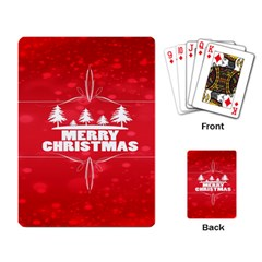 Red Bokeh Christmas Background Playing Card