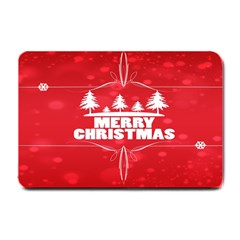 Red Bokeh Christmas Background Small Doormat