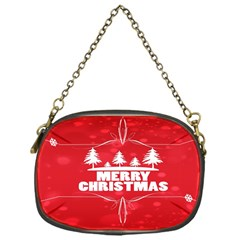 Red Bokeh Christmas Background Chain Purses (One Side)