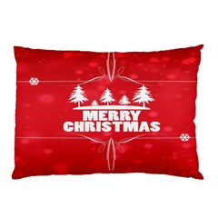 Red Bokeh Christmas Background Pillow Case